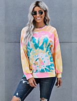 cheap -Women's Daily Pullover Sweatshirt Tie Dye Basic Hoodies Sweatshirts  Loose Blushing Pink