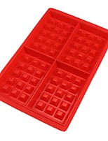 cheap -Waffle Makers for Kids Silicone Cake Mould Waffle Mould Silicone Bakeware Nonstick Silicone Baking Mold 1pc