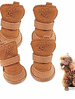 cheap -dog shoes,puppy boots for teddy poodle chihuahua cat puppy dog with adjustable straps anti-slip sole paw protector 4 pack