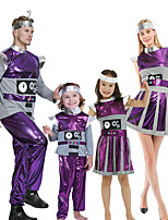 cheap -Alien Cosplay Costume Outfits Group Costume Kid's Adults' Men's Cosplay Halloween Halloween Festival / Holiday Polyester Purple Men's Women's Easy Carnival Costumes