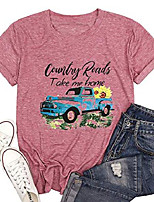 cheap -mountain shirt women take me home t shirt summer casual short sleeve mom tee country road top tee & #40;pink2, l& #41;