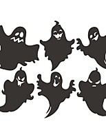cheap -Halloween Stickers Funny Ghost Living Room Horror Self Adhesive Graffiti Wall Stickers