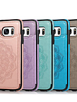 cheap -Case For Samsung Galaxy Galaxy S7 S7edge S8 S8plus S9 S9plus S10 S10E S10plus S20 Plus S20 Ultra S20 Embossed Back Cover Solid Colored PU Leather TPU