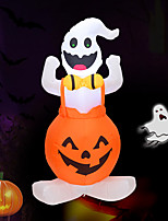 cheap -Halloween Party Toys Halloween Inflatables Pumpkin LED Lights with Tethers and Stakes Polyester Kid's Adults Trick or Treat Halloween Party Favors Supplies