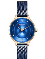 cheap -CURREN Women's Quartz Watches Quartz Formal Style Modern Style Minimalist Water Resistant / Waterproof Stainless Steel Blue / Silver / Gold Analog - Rose Gold Blue Red One Year Battery Life