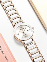 cheap -Tevise Women's Quartz Watches Quartz Modern Style Stylish Elegant Water Resistant / Waterproof Analog Golden+Black White+Silver White+Gold / Ceramic / Calendar / date / day