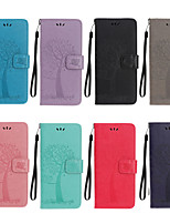cheap -Case For Sony L1 XZ XZS XA1 XA2 XZ2 XZ3 Xperia 10 Xperia 5 L4 Pattern Magnetic Full Body Cases Solid Colored PU Leather