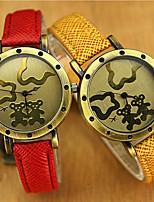 cheap -YAZOLE Women's Quartz Watches Quartz Vintage Style Vintage Cute PU Leather Analog - White Purple Red