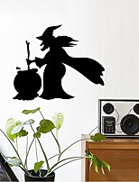 cheap -Halloween Witch Wall Stickers Decorative Wall Stickers, PVC Home Decoration Wall Decal Wall Decoration / Removable