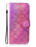 cheap -Case For Samsung Galaxy Galaxy A70E Galaxy A31 A41 A11 M11 M31 A21S A71 5G A51 5G Note 20 Note 20 Ultra Card Holder   Flip Full Body Cases Lines Waves Solid Colored PU Leather