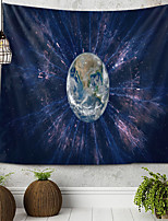 cheap -Earth Glows Tapestry Wall Hanging Tapestries Wall Blanket Wall Art Wall Decor Landscape Painting Tapestry Wall Decor