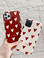 cheap -Case For Apple iPhone 7 plus 8 plus XR XS XS MAX X SE 11 11Pro 11ProMax Pattern Back Cover TPU Heart