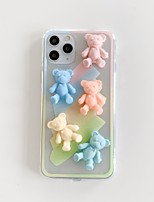 cheap -Case For iPhone 7 8 7 Plus 8 Plus X XS XR XS Max SE 11 11 Pro 11 Pro Max Pattern Back Cover Animal 3D Cartoon TPU