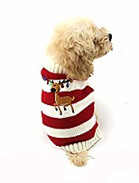 cheap -pet dog winter sweater pet christmas elk bells sweaters halloween reindeer for small dog and cat & #40;m, red& #41;