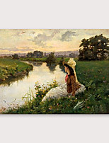 cheap -IARTS Hand Painted Expectation Oil Painting with Stretched Frame For Home Decoration With Stretched Frame