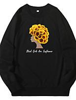 cheap -Women's Pullover Sweatshirt Graphic Casual Hoodies Sweatshirts  White Black Blue