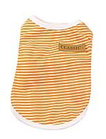 cheap -pet shirt wakeu puppy cat classic vest striped t-shirt pet summer apparel dog clothes for small dog boy dog girl (l, orange)