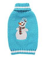 cheap -snowman turtleneck pet dog lapel sweater apparel& #40;blue,xxs& #41;