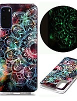 cheap -Case For Samsung Galaxy S20 Ultra S10E S9 Plus S8 S7 Edge S6 S5 A21S A21 A31 M11 Glow in the Dark Pattern Back Cover Flower TPU