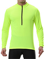 cheap -Men's Long Sleeve Cycling Jersey Winter Polyester Black Blue Mint Green Bike Sweatshirt Jersey Top Mountain Bike MTB Road Bike Cycling Breathable Quick Dry Warm Sports Clothing Apparel / Stretchy