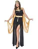 cheap -Cleopatra Dress Cosplay Costume Outfits Party Costume Adults' Women's Cosplay Vacation Dress Halloween Halloween Festival / Holiday Polyester Black Women's Easy Carnival Costumes / Apron / Belt