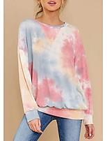 cheap -Women's Pullover Sweatshirt Tie Dye Basic Hoodies Sweatshirts  Purple Blushing Pink Khaki