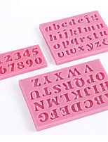 cheap -Cake Decorating Tools Silicone Chocolate Mold Letter And Number Fondant Molds Cookies Bakeware Tools