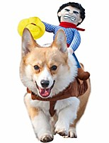 cheap -pet riding costume novelty pet supplies cowboy rider horse riding designed dog apparel party dressing up clothing halloween