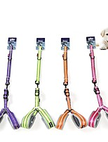 cheap -Dog Cat Harness Leash Portable Trainer Vest Escape Proof Geometry Nylon Golden Retriever Japanese Spitz Beagle Bulldog Shiba Inu Shih Tzu Purple Pink 1 set