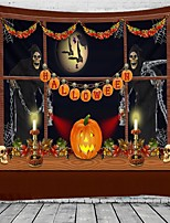 cheap -Halloween Party Wall Tapestry Art Decor Blanket Curtain Picnic Tablecloth Hanging Home Bedroom Living Room Dorm Decoration Pychedelic kull keleton Pumpkin Bat Witch Haunted cary Polyeter
