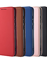 cheap -Case For Samsung Galaxy S9 S9Plus S10 S10Plus S10(5G) S10e S20 S20Plus S20Ultra Note 9 10 10Plus Card Holder Shockproof Magnetic Full Body Cases Solid Colored PU Leather TPU