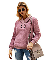 cheap -Women's Daily Pullover Sweatshirt Solid Color Plain Basic Hoodies Sweatshirts  Blushing Pink Dark Gray