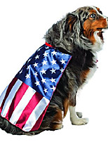cheap -usa flag cape for dogs, white