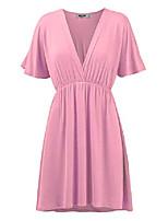 cheap -ll womens short sleeve kimono style dress top m pink