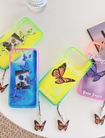 cheap -Case For Apple iPhone 7 7P iPhone 8 8P iPhone X iPhone XS XR XS max iPhone 11 11 Pro 11 Pro Max iPhoneSE (2020) Pattern Glitter Shine Back Cover Butterfly TPU