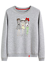 cheap -Women's Fleece Sweatshirt Long Sleeve Cartoon Sport Athleisure Pullover Breathable Warm Soft Comfortable Everyday Use Exercising General Use / Cotton