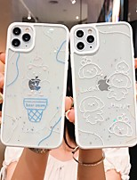 cheap -Case For iPhone 7 8 7plus 8plus X XR XS XSMax SE(2020) iPhone 11 11Pro 11ProMax Shockproof Ultra-thin Pattern Back Cover Word Phrase Transparent Animal TPU