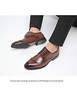 cheap -Men's Oxfords Business Daily Office & Career Walking Shoes Cowhide Breathable Non-slipping Shock Absorbing Black / Brown Fall / Winter