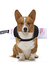 cheap -Dog Halloween Costumes Costume Vest Headband Knife Unique Design Cool Christmas Party Dog Clothes Breathable Black Costume Fabric S M L