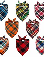 cheap -dog bandana classic plaid triangle scarf 8pcs/pack holiday birthday gift