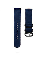 cheap -22mm Fashion Watch Band Nylon Strap Black 3 Rings Buckle Amazfit GTR 47mm / Amazfit Pace / Amazfit Stratos Amazfit Sport Band / Modern Buckle Nylon Wrist Strap