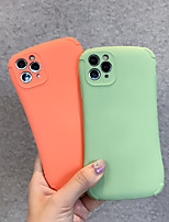 cheap -Case For Apple iPhone 6 6s 6p 6sp iPhone 7 7P 8 8P iPhone X iPhone XS iPhone XR iPhone XS max iPhone 11 11 Pro 11 Pro Max Shockproof Back Cover Solid Colored TPU