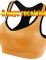 cheap -women sports bras seamless support racerback workout yoga bra (32a, orange)