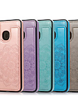 cheap -Case For Samsung Galaxy Galaxy A10(2019) A20(2019) A30(2019) A40(2019) A50(2019) A70(2019) Embossed Back Cover Solid Colored PU Leather TPU