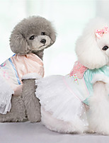 cheap -Dog Dress Lace Ethnic Style Cute Christmas Party Winter Dog Clothes Warm Pink Green Costume Polyster XS S M L XL