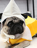 cheap -Dog Halloween Costumes Costume Shirt / T-Shirt Fruit Unique Design Special Christmas Party Dog Clothes Breathable Yellow Costume Polyster S M L XL