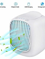 cheap -portable air conditioner fan,3 speeds space evaporative air cooler super quiet personal table fan mini evaporative air circulator cooler for home office bedroom (white)