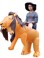 cheap -Lion Cosplay Costume Inflatable Costume Funny Costume Kid's Adults' Men's Cosplay Halloween Halloween Festival / Holiday Fabric Orange Men's Women's Easy Carnival Costumes