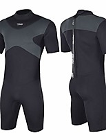 cheap -shorty wetsuits x men 3mm neoprene scuba diving suits surfing swimming short sleeve back zip (x-men gray, xl1)