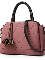 cheap -Women's Bags PU Leather Top Handle Bag Bow(s) Zipper for Daily / Date Red / Blushing Pink / Dark Blue / Gray